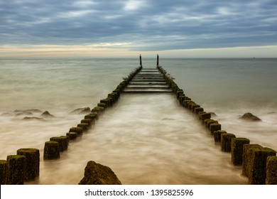 Breakwater on the North Sea in the Netherlands