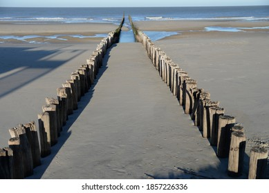 Breakwaters along the Zeeland coast near the town of Domburg - Shutterstock ID 1857226336