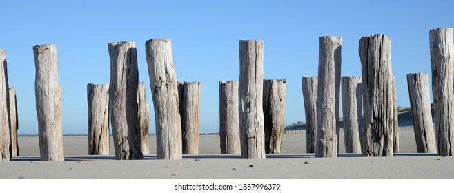 Breakwaters along the Zeeland coast near the town of Domburg - Shutterstock ID 1857996379
