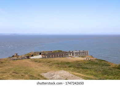 Brean, Burnham-on-Sea, Somerset / UK - May 30, 2020: Brean Down Fort constructed in the 1860s as one of the Palmerston Forts