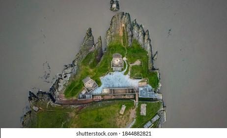 Brean down fort aerial shots October 2020
