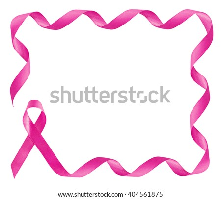 Breast Cancer Awareness Pink Ribbon Frame Stock Photo Edit Now
