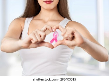 Breast Cancer, Breast Cancer Awareness Ribbon, Pink.