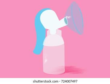 Breast Pump Illustration