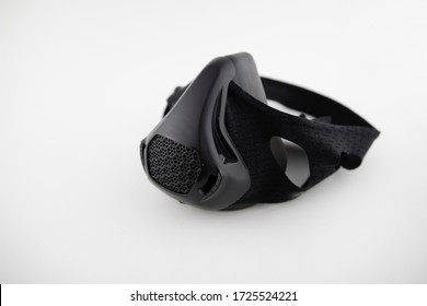 Breather mask with white background