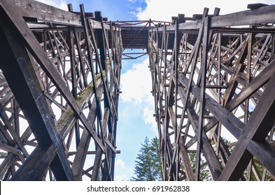 Breathtaking Architecture of the Kinsol Trestle or Koksilah River Trestle in the Cowichan Valley