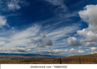 Breathtaking landscape of Goose Creek Valley and Big Horn Mountains, Sheridan Wyoming