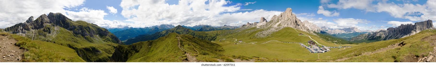 breathtaking mountain panorama, passo Giau, Italy