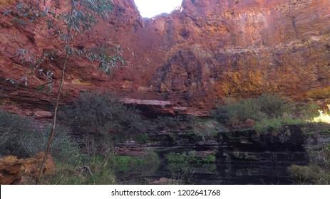Breathtaking panorama of the beautiful canyons in Karijini National Park, Pilbara - Australia