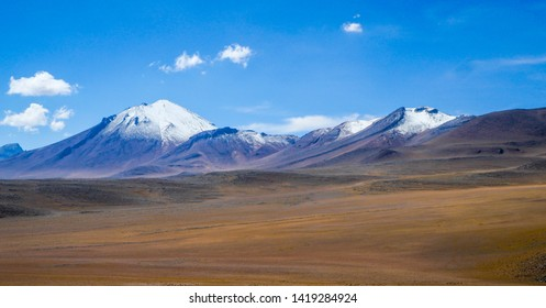 Breathtaking panorama view of Eduardo Avaroa Andean Fauna National Reserve in Bolivia