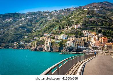 Breathtaking road in the splendid Amalfi Coast