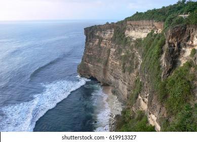 Breathtaking rockwall in Bali