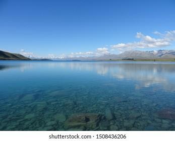 Breathtaking scenery Lake Tekapo in New Zealand