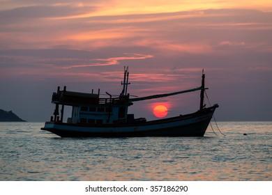 Breathtaking sunset on Kalim beach in Phuket Thailand