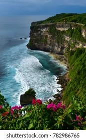 Breathtaking view from the cliff. Uluwatu, Bali.
