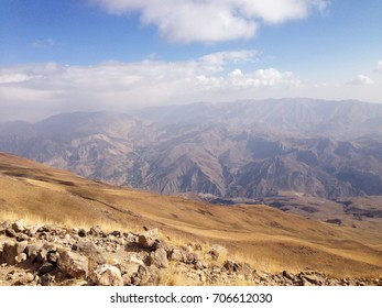 Breathtaking view from Damavand mountain, the highest volcano in Iran, 5671 m high