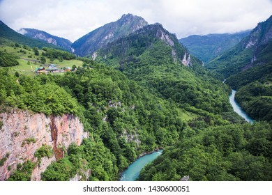 Breathtaking view of a famous montenegrian Tara river canyon, beautiful natural landscape