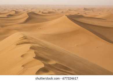 A breathtaking view from the highest dunes in Erg Chigaga in Moroco.