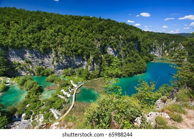 Breathtaking view in the Lakes National Park (Croatia)