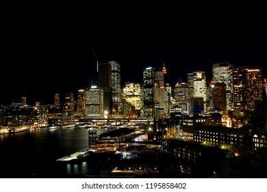 A breathtaking view of the night skyline of Sydney.