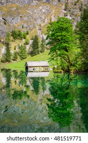 Breathtaking view for Obersee lake in Alps, Germany