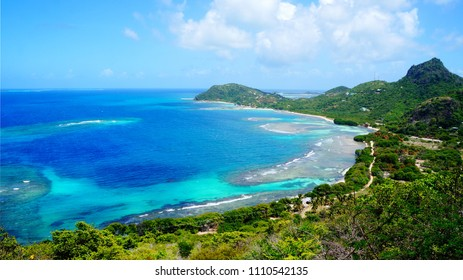 Breathtaking view over Richmond bay, Union island, Saint Vincente and the Grenadines