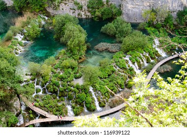 Breathtaking view in the Plitvice Lakes National Park. Croatia