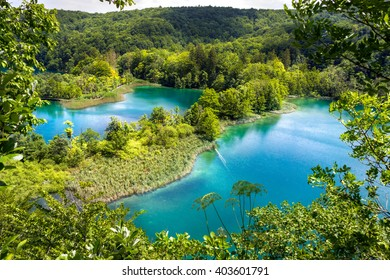 Breathtaking view of the Plitvice Lakes National Park (Croatia).
