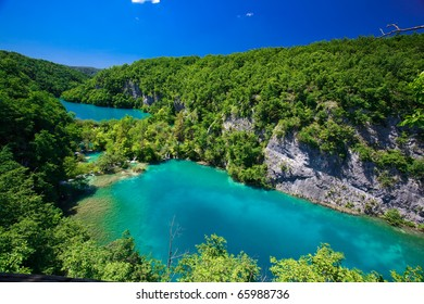 Breathtaking view in the Plitvice Lakes National Park (Croatia)