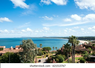 Breathtaking view from Whales Peninsula (Punta Ballena), close to Punta del Este resort town, Maldonado, Uruguay