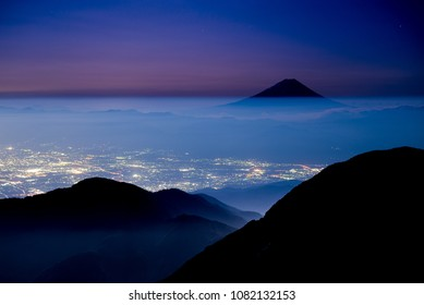 breathtaking views from a summit of a mountain, Japan