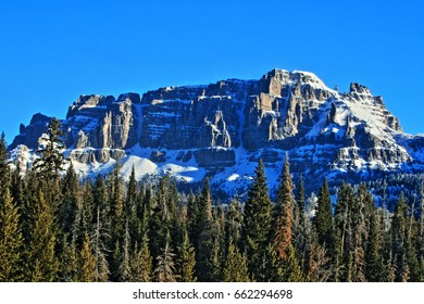 Breccia Peak and Cliffs in the Absaroka Mountains on Togwotee Pass between Dubois and Jackson Wyoming USA