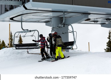 Breckenridge, Colorado - February 14, 2014. 2013/2013 Skiing season in Colorado.