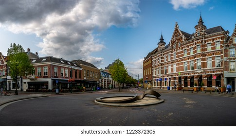 Breda, Netherlands - August 26, 2018: Cityscape of Breda, a city located in the province of North Brabant.