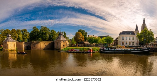 Breda, Netherlands - August 26, 2018: Beautiful landscape of Breda, a city located in the province of North Brabant.