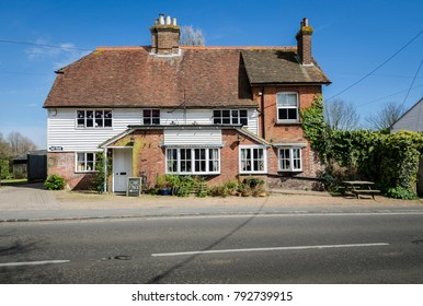 BREDE, KENT, UK, APRIL 2016 - Local public house in a Kent village