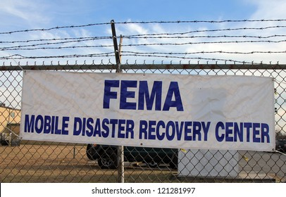 BREEZY POINT, NY - NOVEMBER 15: FEMA opens disaster recovery center in devastated area in the aftermath of Hurricane Sandy on November 15, 2012 in Breezy Point, NY