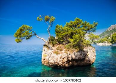 Brela Rock near Punta Rata beach, Makarska Riviera, Croatia