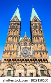 Bremen Cathedral or Bremer Dom is a church dedicated to St. Peter in the market square in Bremen, Germany - Shutterstock ID 1829158100