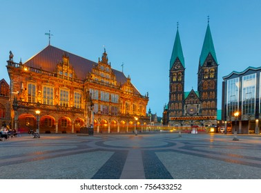 Bremen. The central market square. Town Hall.
