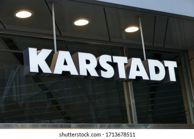 BREMEN, GERMANY - April 19, 2020: Logo of famous big warehouse company Galeria Karstadt Kaufhof