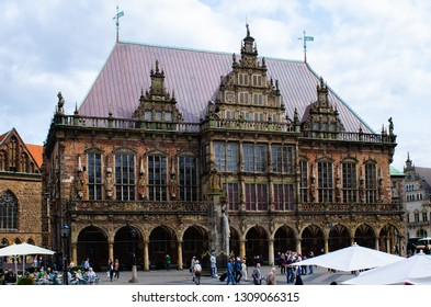Bremen, Germany - August 22, 2017: Market Square with City Hall