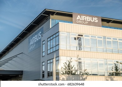 BREMEN / GERMANY - JULY 14, 2017: The company Airbus is producing close to the airport