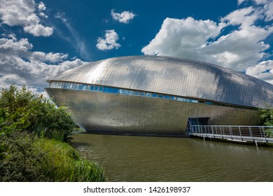 Bremen, Germany - June 13, 2019: The science museum Universum, designed by Bremen-based architect Thomas Klumpp. Exterior view.
