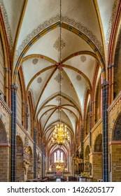 Bremen, Germany - June 13, 2019: Interior view of the Bremen Cathedral (German: Bremer Dom or St. Petri Dom zu Bremen).