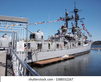 Bremerton, Washington / USA - September 3, 2011: The U.S.S. Turner Joy, a Navy destroyer involved in the Tonkin Gulf incident on August 2,1964, now a floating museum in Bremerton, Washington.