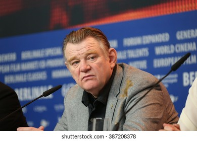 Brendan Gleeson attends the 'Alone in Berlin' (Jeder stirbt fuer sich) press conference during the 66th Berlinale Film Festival Berlin at  Hyatt Hotel on February 15, 2016 in Berlin, Germany.