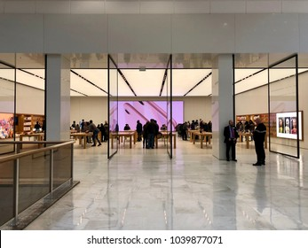 BRENT CROSS, LONDON - MARCH 6, 2018: Apple Store at Brent Cross Shopping Centre in Barnet, North London, England, UK.