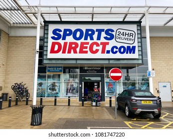 BRENT CROSS, LONDON - MAY 2, 2018: Sports Direct retail store in Brent Cross, North London, UK.