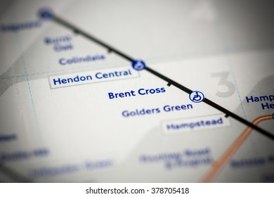 Brent Cross Station. Northern Line. London. UK.